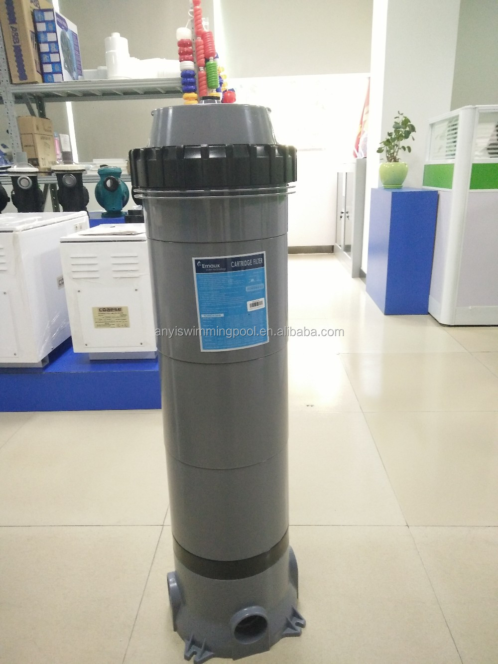 Grey Portable Swimming Pool Paper Cartridge Pool Filter