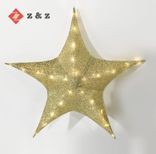 2018 FESTIVAL DECORATION AND INDOOR/OUT DOOR DECORATION LIGHT FOLDABLE SHINNING CHRISTMAS STAR