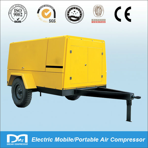 75KW 10bar Electric mobile air Compressor forJack hammer