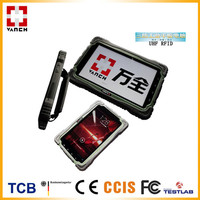 bluetooth custom android mobile phone rugged IP65 tablet uhf rfid handheld reader