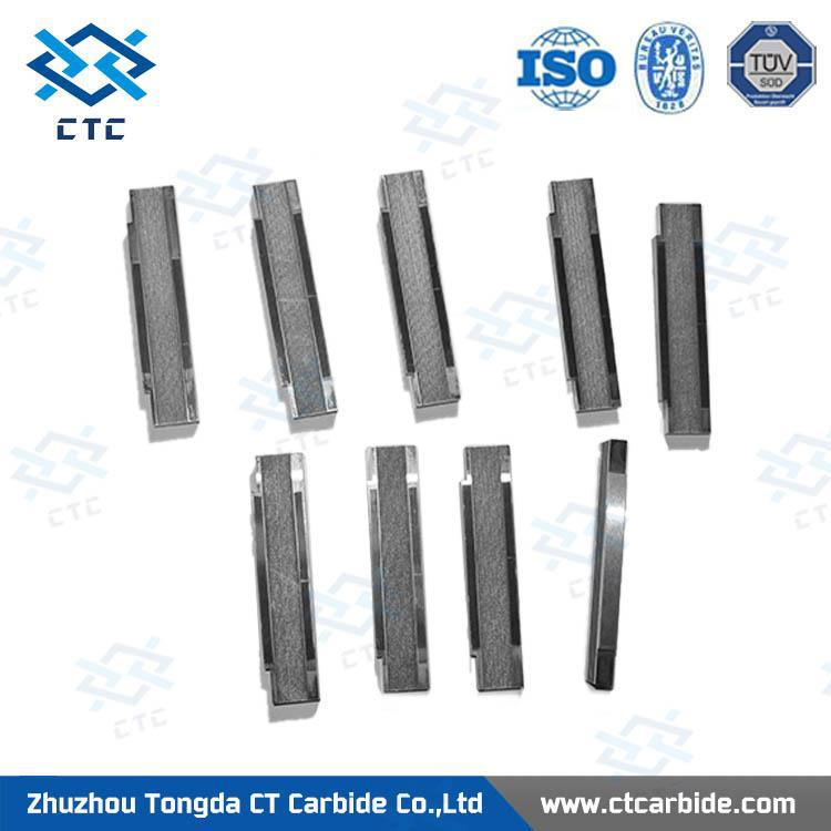 Factory supply tungsten carbide rectangular bar/strip cutter/cemented carbide square strip for cutting