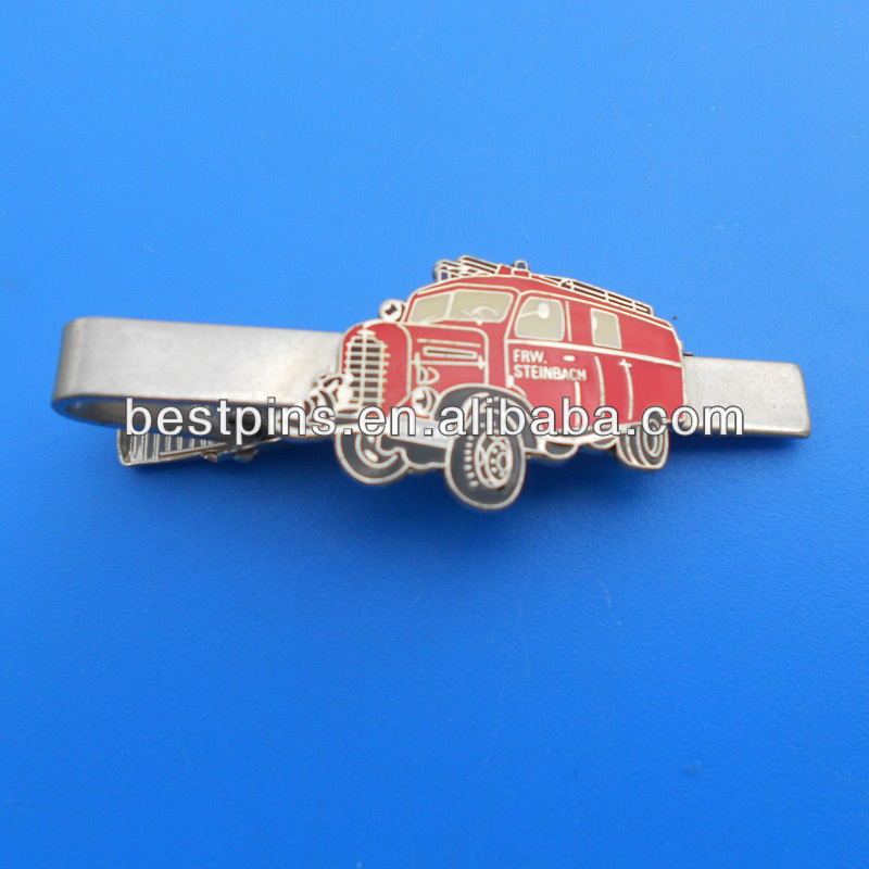 Fashion bus object tie clip, tie pin with bus logo