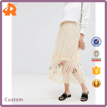 customize new design embroidery skirt,latest design skirt suits for girls