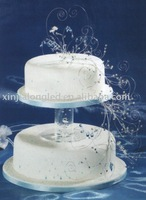 acrylic cake stand for wedding with a base person