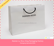 Top quality custom Logo craft gift shopping paper tote bag printed