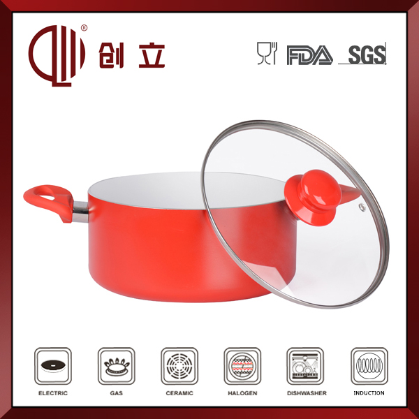 ceramic shallow cooking pot CL-S034