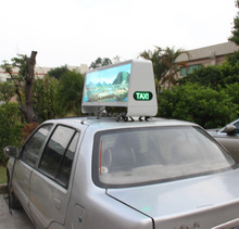 Outdoor 3G control P5 taxi led display/Car Top Sign/ LED Advertising