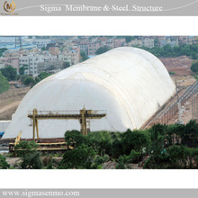 Air supported inflatable dome construction for sports industry greenhouse storage buildings