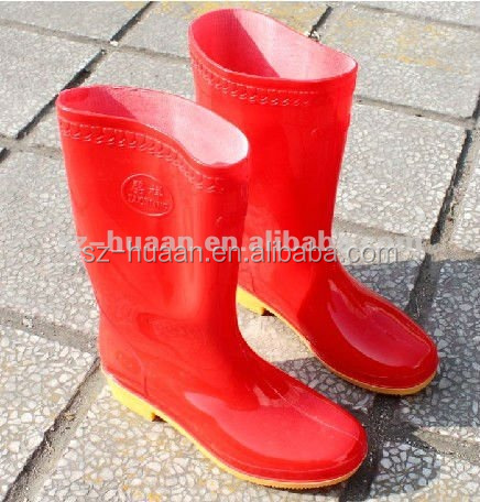 factory high quality rubber safety boots manufacture