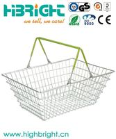 chrome plating metal wire shopping basket