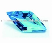 Well design dazzling rhombus shaped azure cubic zirconia loose gems in factory price