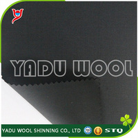 Italian wool suit fabric / black wool fabric / wool and polyester fabric