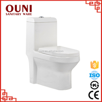 ON-818 One piece structure and s-trap drainage ceramic washdown eastern toilet