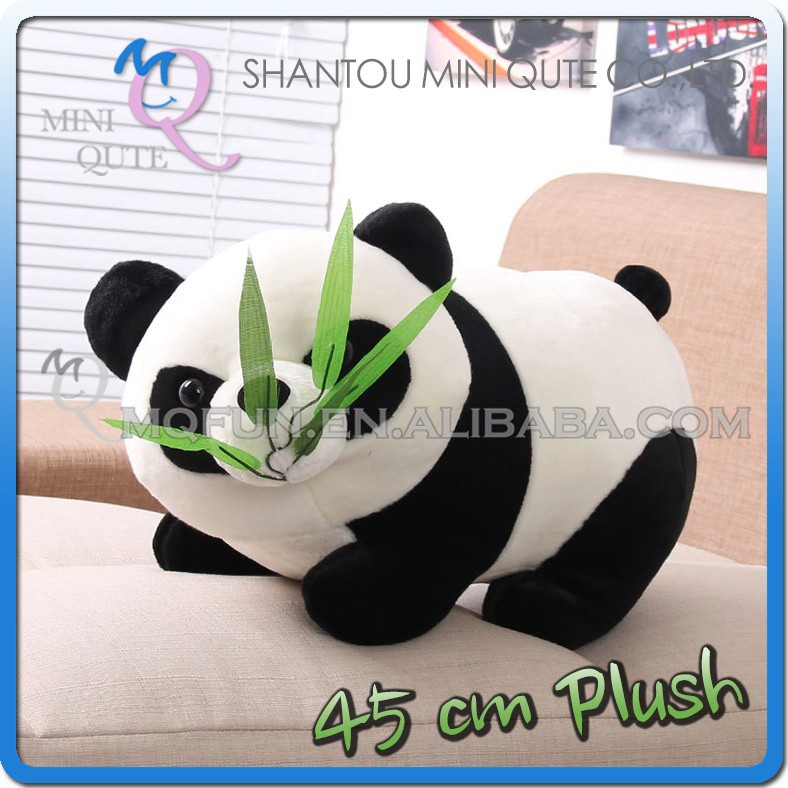 Mini Qute 45 cm kawaii stuffed animals panda bear national treasure dolls plush boneca pelucia brinquedos boys toys NO.MQ 128