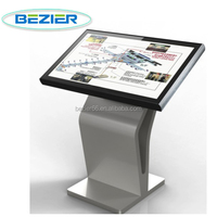 55 Inch stand alone cheap all in one pc slim touch screen kiosk on sale