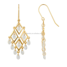 gold plated wholesale party chandelier earring