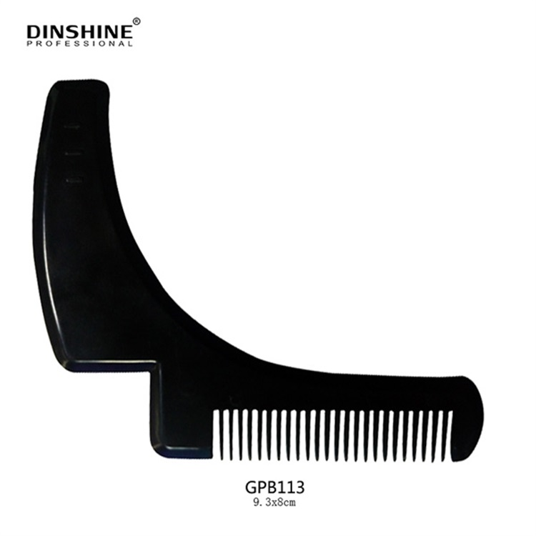 Best Selling Template Moustache And Beard Shaped Comb