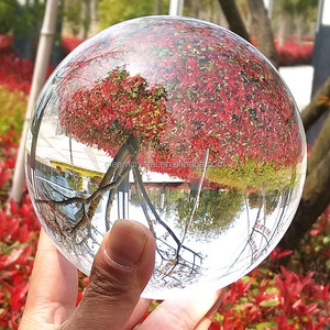 Super Magic Clear Seven Color Crystal Ball / personalized solid crystal ball for sale / glass ball