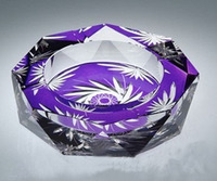 china Temptation hand cut wedding souvenirs gift crystal ashtray