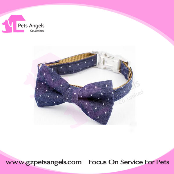 Fabric adjustable Nylon dog collar with Nice Bow tie