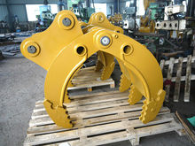 wholesale high quality equipment parts 12ton mechanical log grapple for excavator C 312 on hot sale