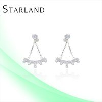Starland Baoyuan Silver Jewelry Pictures Of Earring For Girls CAE1106