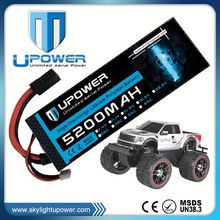 Upower high rate 5200mah 9.6v rc car battery for RC car vehicles
