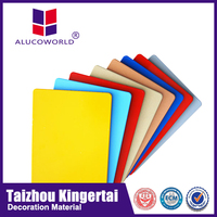 Alucoworld cheap price plastic recycle aluminum composite panel for exterior wall