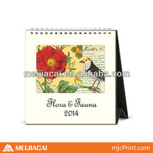wholesale 2014 spiral bound desk calendar printing
