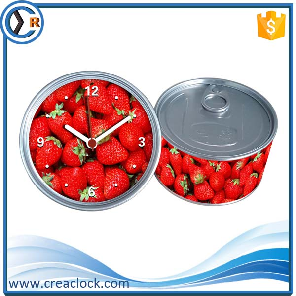 Small Tin Can Clock Funny Electronic Cheap Giveaway Gifts For Wholesale