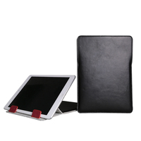 Customized design genuine leather pad tablet case cover holder