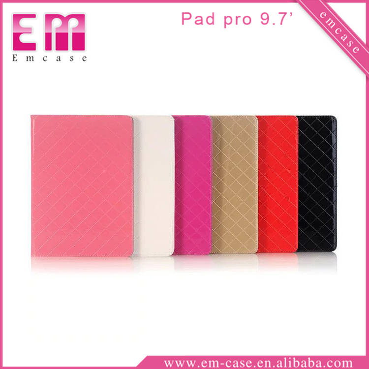 Grid Tablet Leather Case For iPad Pro, PU Stand Case For iPad Pro Tab Wallet Case