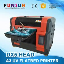 Funsunjet 2017 newest A3/A4 UV printer cell phone case plastic card printing machine