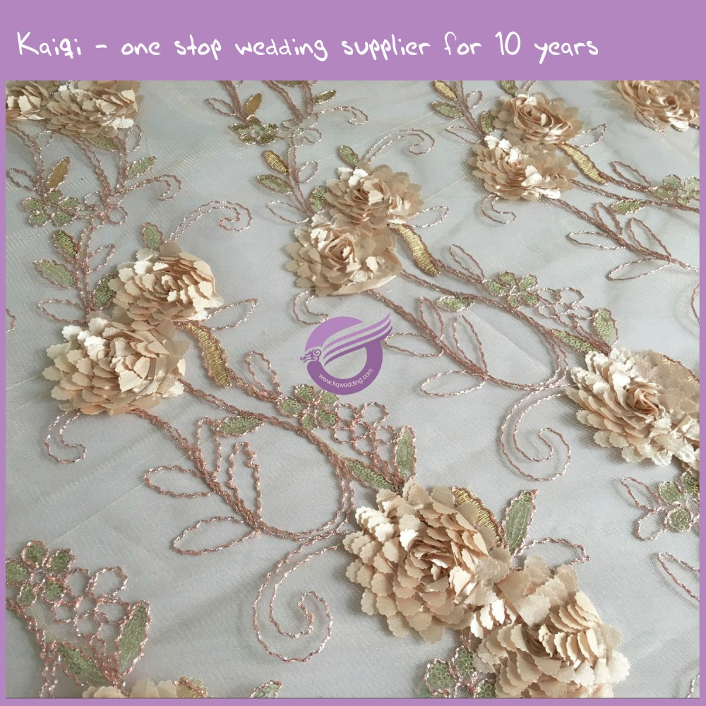 TX17842 gold wedding hot sell fancy taffeta embroidery leaf table cloths