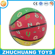 cheap wholesale colorful letter printing size 2 mini basketballs