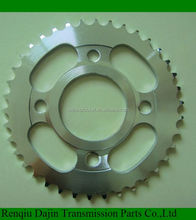 Dajin C45 CG125 sprocket motorcycle steel chain wheel sprocket of chain and sprocket wheel