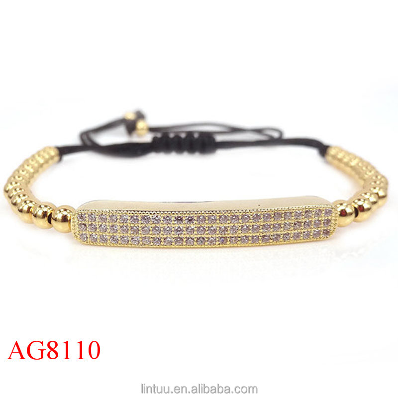 Fashion Stainless Steel jewelry Hand Made Custom 18k Gold Plated Bracelet