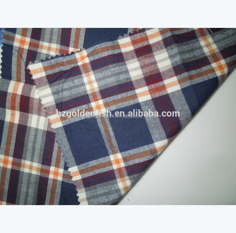 Cheap price Yarn dyed 100% Cotton flannel fabric for casual Shirt