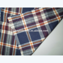 Wholesale 100% Cotton yarn dyed flannel fabric for casual Shirt