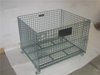 folding and stackable wire mesh container