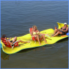 Hot sell inflatable floating island/inflatable floating mat/inflatable water floating bed