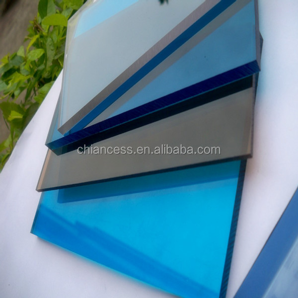 plastic board sun roof Bayer Polycarbonate PC Solid Sheets with UV layer
