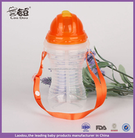 Children Kid Water Bottle Camping Equipment 600ML Straw Water Bottles With Rope