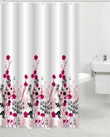 American style floral design polyester fabric shower curtain
