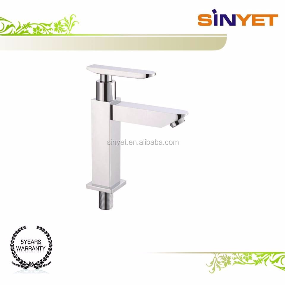 classic Single Handle Deck Bathroom kitchen Chrome polish Brass cold water Basin Tap