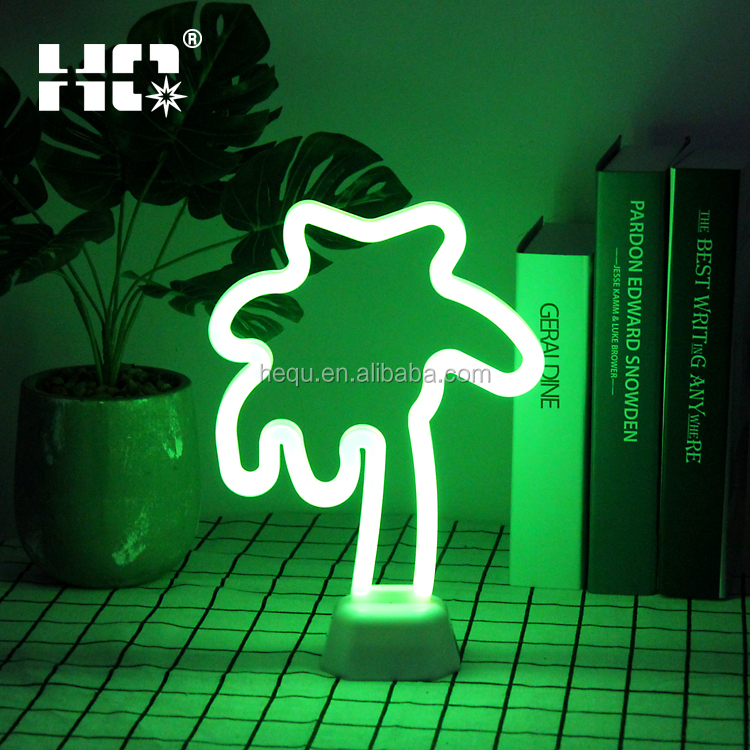 Desktop Decor Night Lights Home Decoration Party Supplies Tropical LED Coconut Palm Tree Neon Light <strong>Signs</strong>