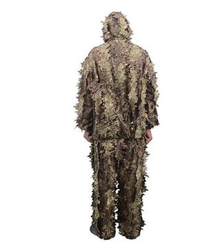 2019Camouflage Bionic Pattern Ghillie Suits Fast Dry Hunting Clothes Jungle Military Camouflage Uniform