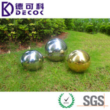 Wholesale 200mm 300mm 500mm gazing stainless steel hollow ball