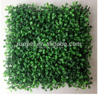 High simulated Artificial boxwood roll of green grass for garden and outdoor