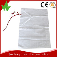 100% pp polypropylene sand bags with drawstring china high quality